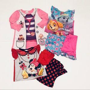 Lot of Girls Character Pajamas